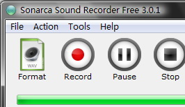 Sonarca Sound Recorder Free Screen shot